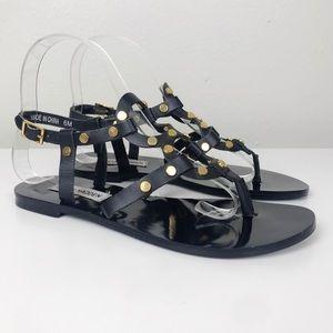 Steve Madden Baits Studded Leather Sandals 6 M